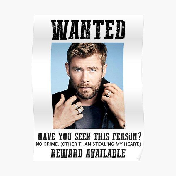 wanted: chris hemsworth Poster