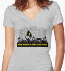 How Kinnick Does The Wave Dance Marathon Fundraiser Women's Fitted V-Neck T-Shirt
