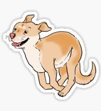 Puck Running Sticker