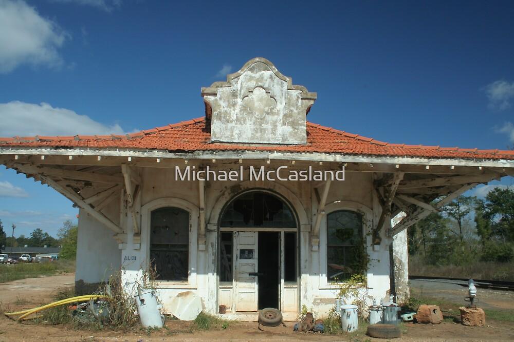 Train Station in Wadley, Alabama 1 by Michael McCasland