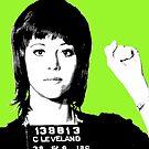 Jane Fonda Mug Shot - Lime by Gary Hogben