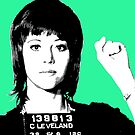 Jane Fonda Mug Shot - Mint by Gary Hogben