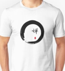 """Zen"" calligraphy & Enso circle of enlightenment Unisex T-Shirt"
