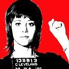 Jane Fonda Mug Shot - Red by Gary Hogben
