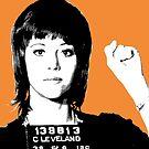 Jane Fonda Mug Shot - Orange by Gary Hogben
