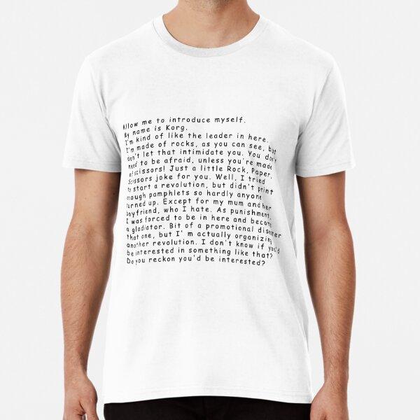 Korg Thor: Ragnarok Premium T-Shirt
