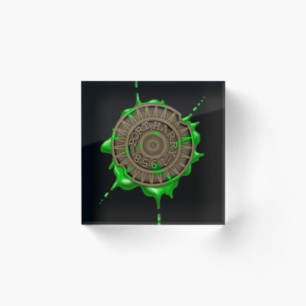 Snot That Ate Port Harry - Manhole Cover Acrylic Block