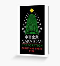 Nakatomi Corporation Christmas Party Snowflake Tower Greeting Card