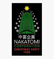 Nakatomi Corporation Christmas Party Snowflake Tower Photographic Print