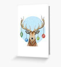 Christmas Cheer Deer Greeting Card