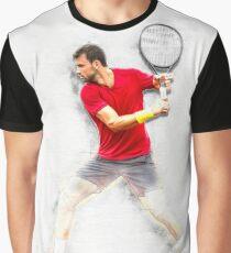 Grigor Dimitrov tennis player from Bulgaria Graphic T-Shirt