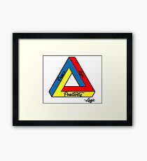 """""""Peace Love & Positivity"""" - Logic quote Framed Print"""