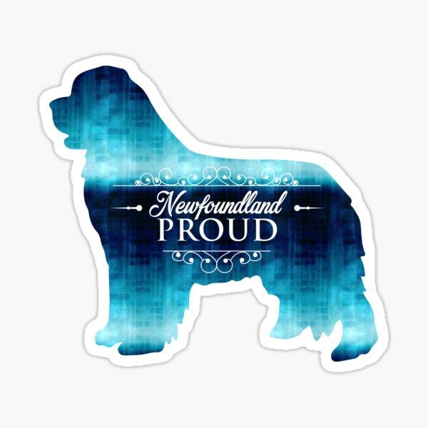 Newfoundland Proud in Blue! Sticker
