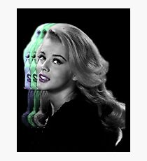 Trippy Glamour Girl Photographic Print