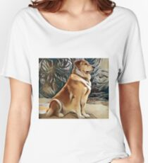 A Golden Retriever Women's Relaxed Fit T-Shirt