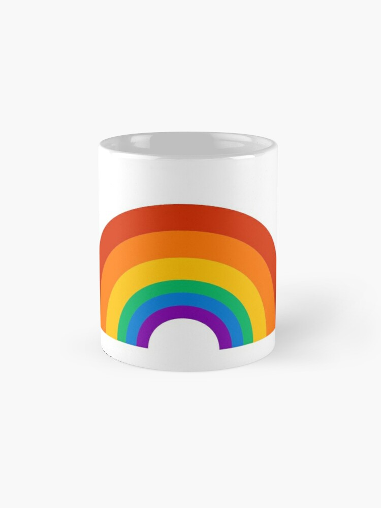 Alternate view of rainbow pride Classic Mug