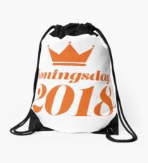 Koningsdag Crown 2018 - King's Day Netherlands Celebration Nederland Drawstring Bag