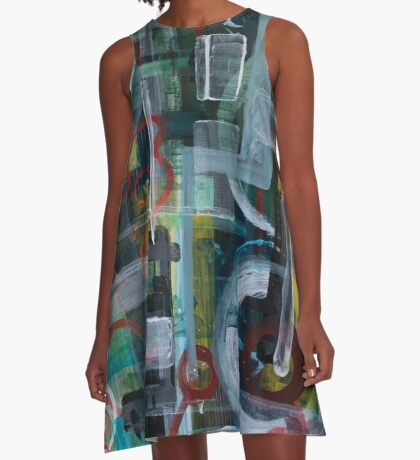 Abstract 1017 A-Line Dress