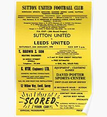 Leeds United 1970 - Programme Poster