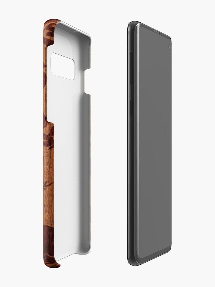 Vista alternativa de Funda y vinilo para Samsung Galaxy Keokea Beach Faux Wood Hawaiian Surfboard