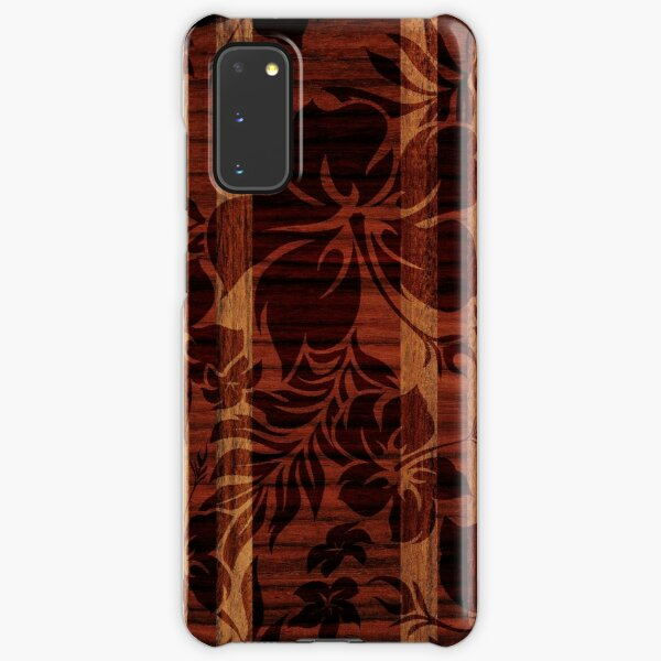 Keokea Beach Faux Wood Hawaiian Surfboard  Samsung Galaxy Snap Case