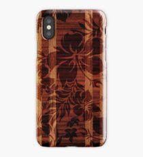 Keokea Beach Faux Wood Hawaiian Surfboard  iPhone Case/Skin