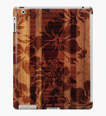 Keokea Beach Faux Wood Hawaiian Surfboard  iPad Case/Skin