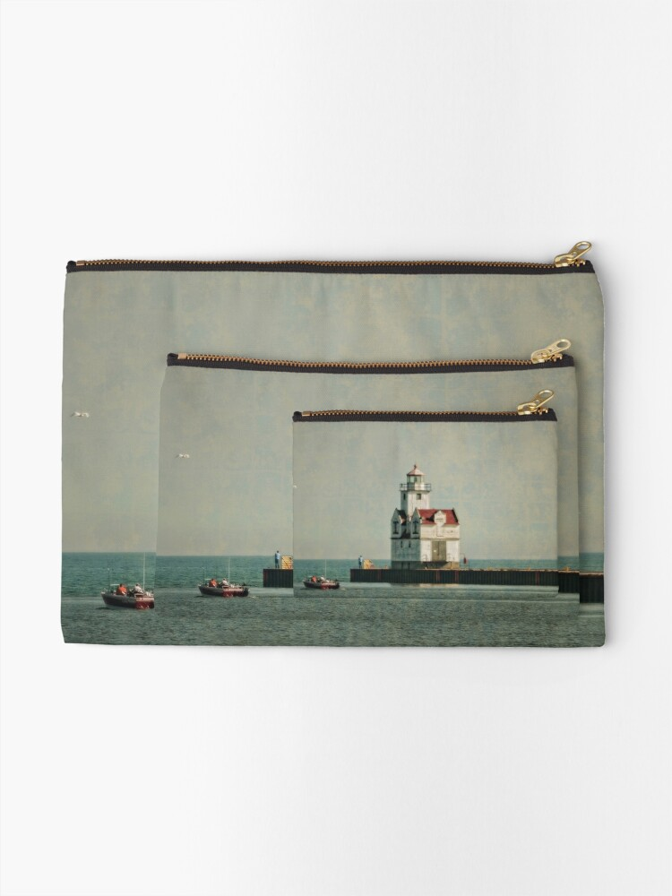 Alternate view of Lighthouse - Manitowoc, WI Zipper Pouch