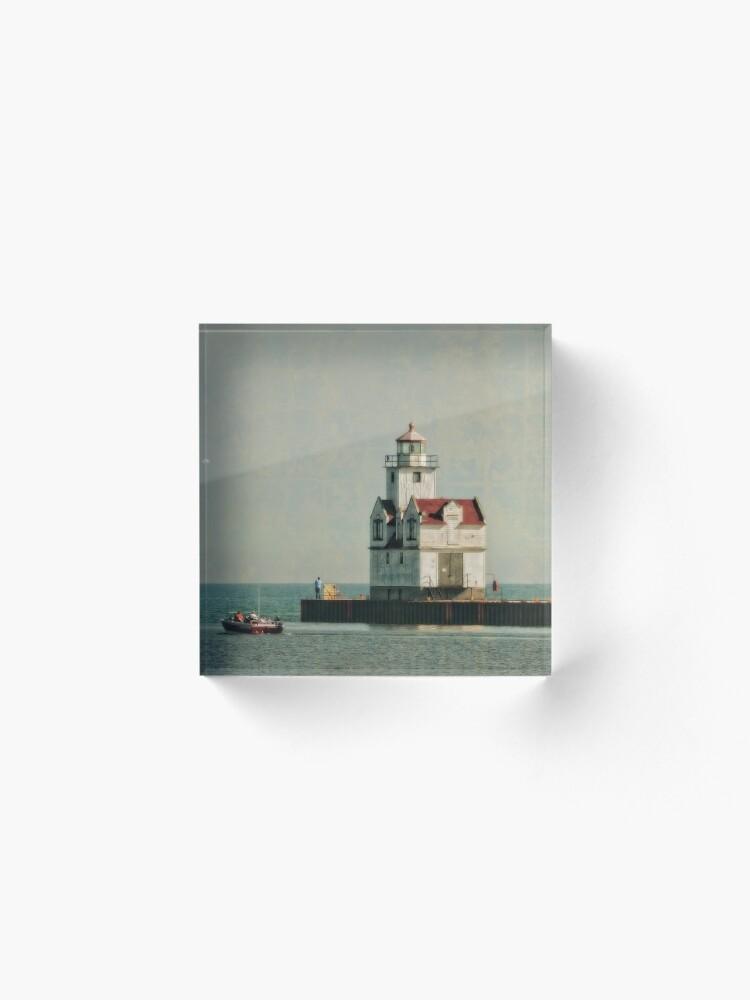 Alternate view of Lighthouse - Manitowoc, WI Acrylic Block