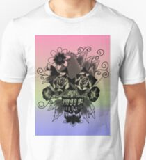 Tropical Floral Skull T-Shirt