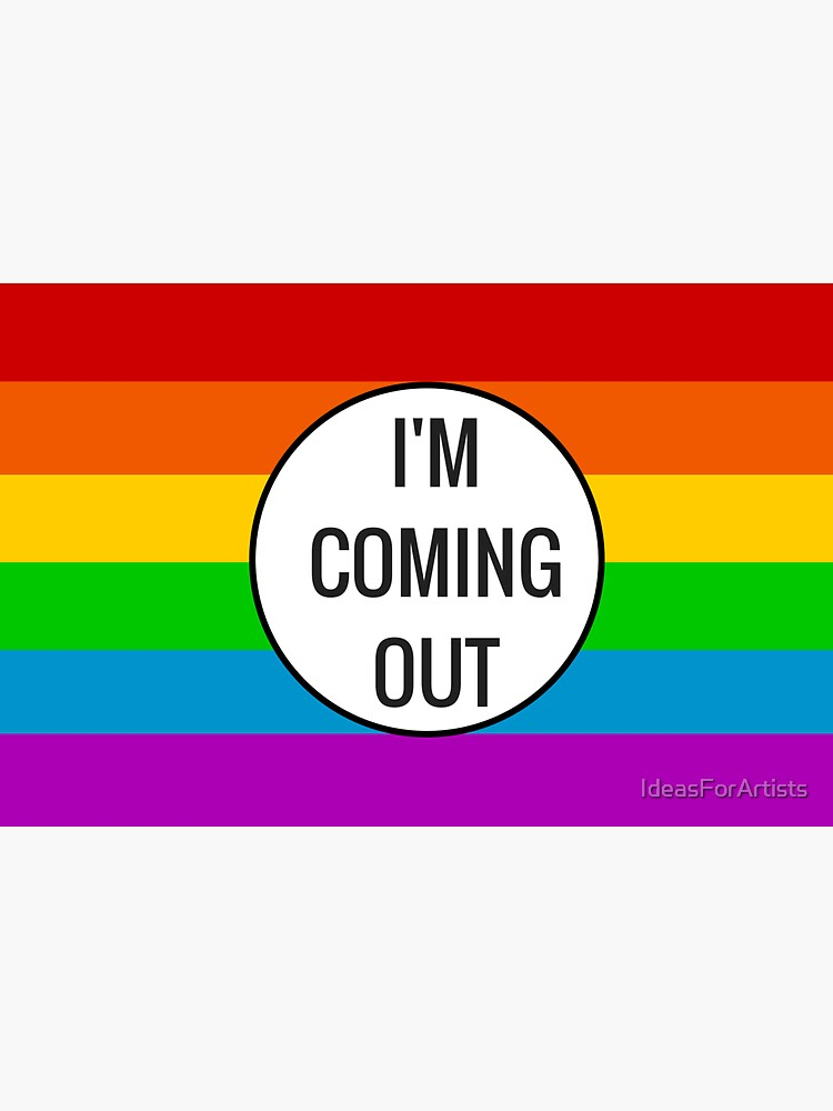 Coming Out ~ pride rainbow by IdeasForArtists