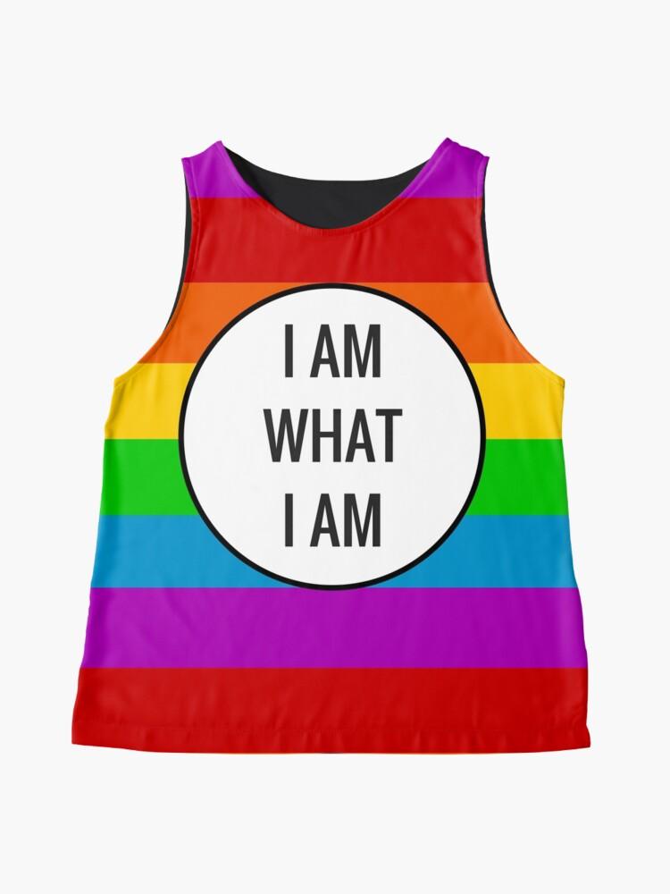 Alternate view of I AM WHAT I AM ~ rainbow Sleeveless Top