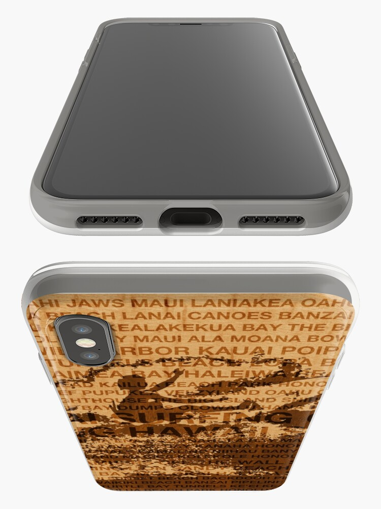 Alternate view of Surfing Hawaii, The Cutback, Hawaiian Surfing Design   iPhone Cases & Covers