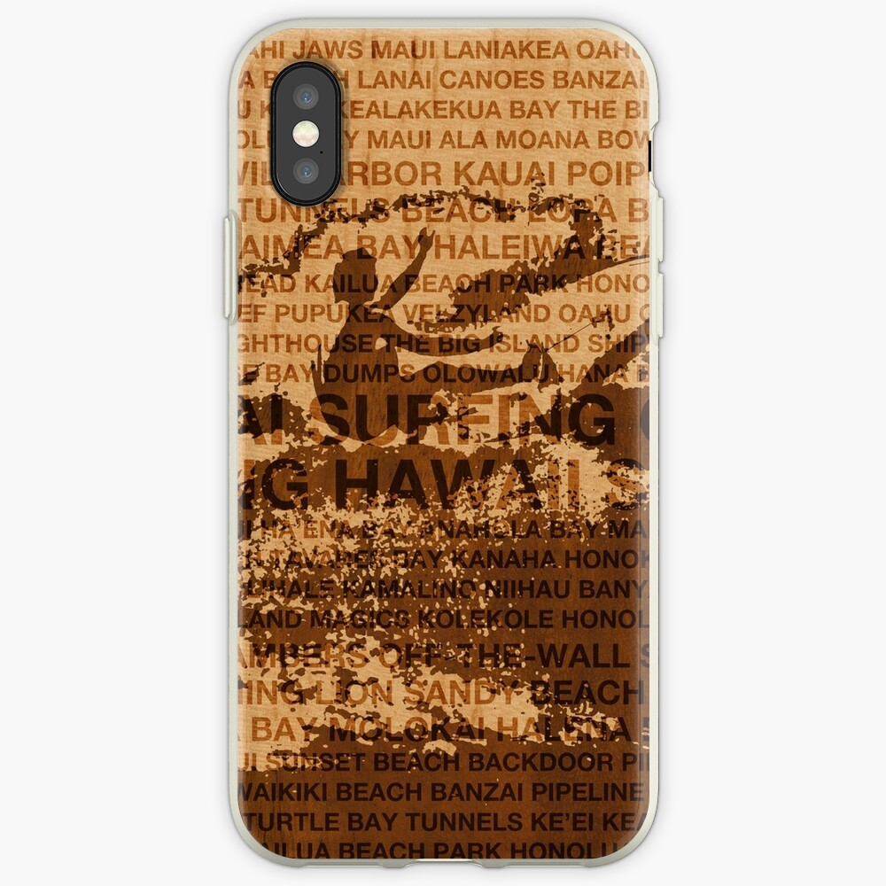 Surfing Hawaii, The Cutback, Hawaiian Surfing Design   iPhone Cases & Covers