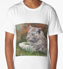 Young White Tiger Long T-Shirt