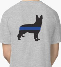 K9 Thin Blue Line Back Classic T-Shirt