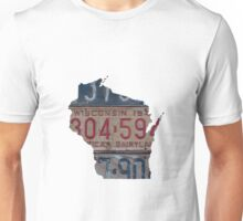 Vintage Wisconsin License Plates Unisex T-Shirt