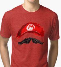 Super Mario Mustachio! Tri-blend T-Shirt