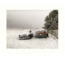 Winter Wrecks Art Print