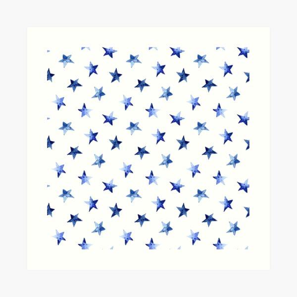 Starry || watercolor Art Print
