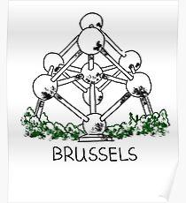 Brüssel, Belgien Poster