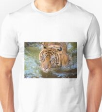 Tiger playing in some water T-Shirt