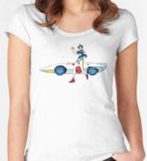 Speed Tracer Women's Fitted Scoop T-Shirt