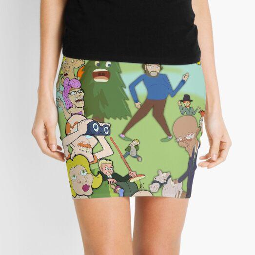MadLolZ Characters Mini Skirt
