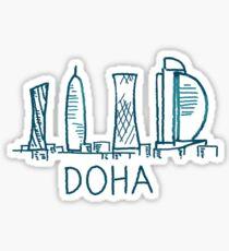 Doha Qatar Sticker