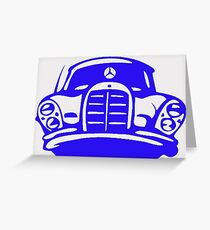 Blue MBZ Car Artwork Greeting Card
