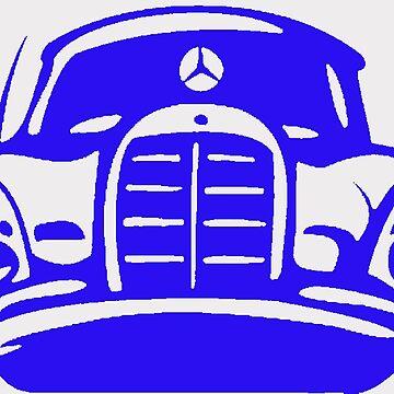 Blue MBZ Car Artwork by mbz-tech