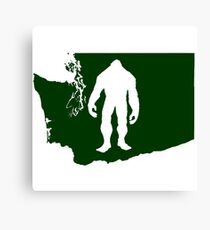 Washington Bigfoot Canvas Print