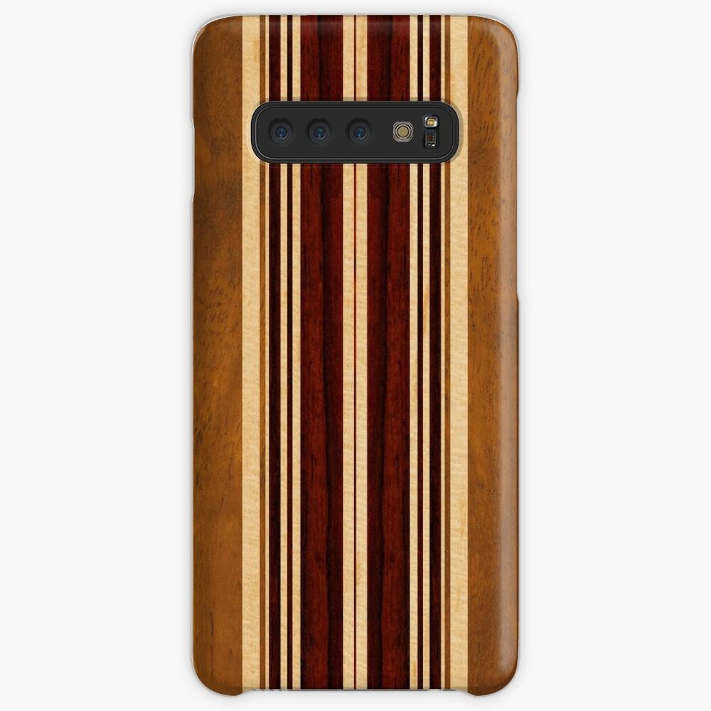 Tabla de surf hawaiana Nalu Lua Faux Koa Wood Funda y vinilo para Samsung Galaxy