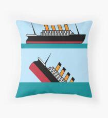 Vintage Ship Throw Pillow